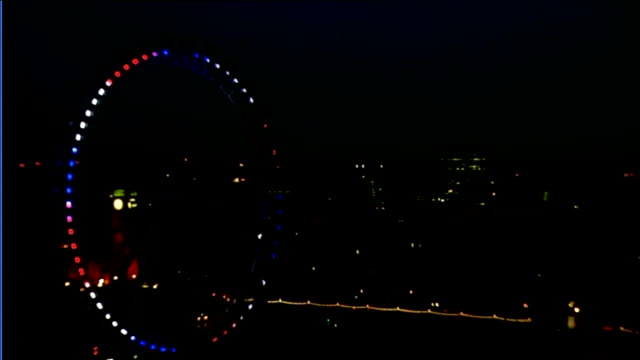 baby boy born to the duke and duchess of cambridge: itv news special pab 09:25-10.30; london eye big wheel illuminated in red, white and blue - royal blue stock videos & royalty-free footage