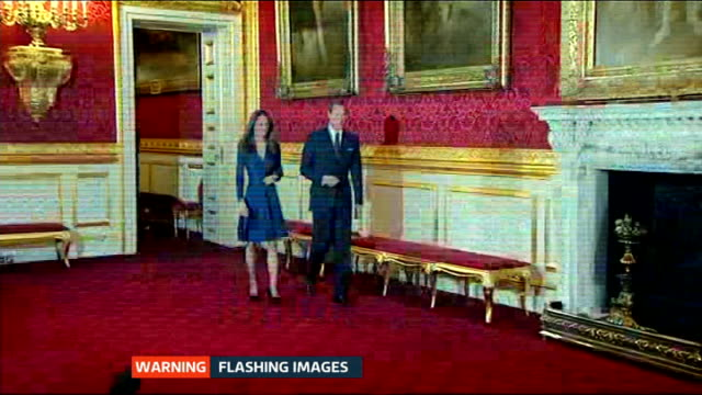 baby boy born to the duke and duchess of cambridge itv news special pab 09251030 england london st james's palace int prince william and the then... - photo call stock videos & royalty-free footage