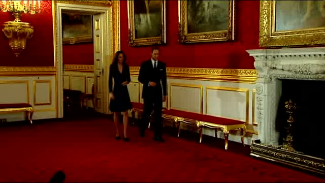 vídeos y material grabado en eventos de stock de royal photographer arthur edwards interview lib / tx england london st james's palace photography** prince william and then fiancee kate middleton... - palace room