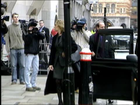 royal butler harold brown trial collapses itn london old bailey press camped outside court slow motion royal butler harold brown along from taxi as... - stealing stock videos & royalty-free footage