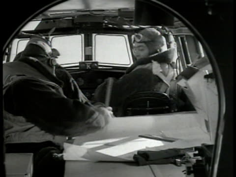 royal canadian air force patrol bomber in flight over sea. int pilots & navigator in cockpit. convoy at sea. bow of ship. destroyer ship at sea.... - convoy stock videos & royalty-free footage