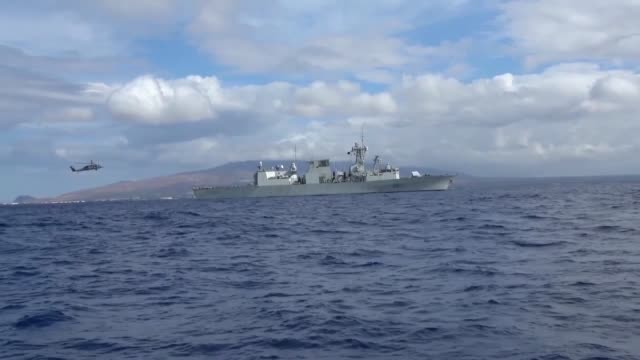 royal canadian navy frigate hmcs vancouver prepares and fires a missile during a missile exercise as part of the rim of the pacific exercise, july 16. - battleship stock videos & royalty-free footage