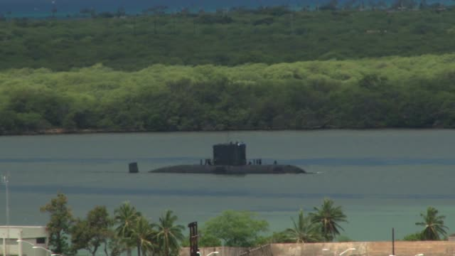 Royal Canadian Navy Submarine Her Majesty's Canadian Ship Victoria arrives at Pearl Harbor for Rim of the Pacific Exercise 2014