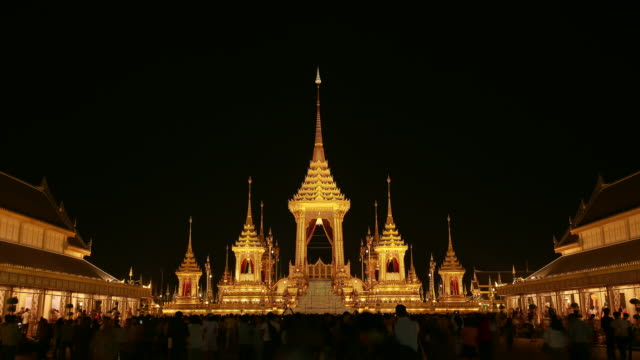 royal crematorium - king of thailand stock videos and b-roll footage