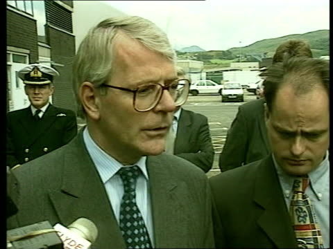 Royal divorce made absolute EXT Strathclyde Faslane LMS John Major MP towards CMS John Major MP speaks to press SOT very sad for them ENGLAND London...