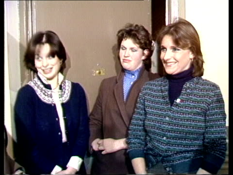 """lady diana background; england: london:three flat mates: :sof: """"i was on the loo -- doing.""""cas : itn; 1.10mins: 44ft:tx'd:24.2.81/nat:... - princess diana stock videos & royalty-free footage"""