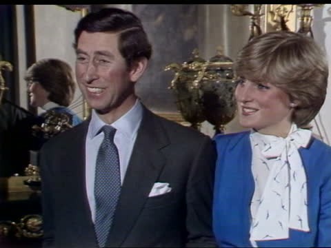 prince charles and lady diana interview: part two; england: london: buckingham palace: int prince charles, prince of wales and lady diana spencer... - weisheit stock-videos und b-roll-filmmaterial