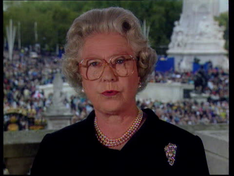 Royal Family a year after Diana's death LIB Queen Elizabeth II speech to the nation I believe there are lessons to be drawn from her life and from...