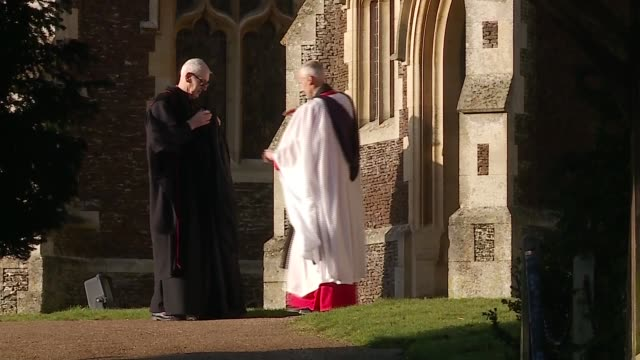 royal family attends christmas day service at sandringham; england: east anglia: norfolk: sandringham: st mary magdalene church: ext members of royal... - sophie rhys jones, countess of wessex stock videos & royalty-free footage