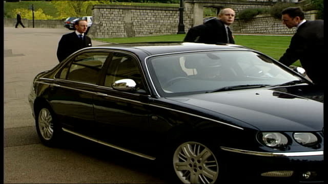 royal family attends funeral of princess alice, duchess of gloucester; england: berkshire: windsor: windsor castle: st george's chapel: car along and... - sophie rhys jones, countess of wessex stock videos & royalty-free footage