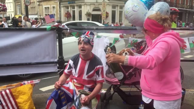 Royal fans wait outside Windsor castle as newest royal arrival Archie is set to be christened The Duke and Duchess of Sussex's son will be christened...