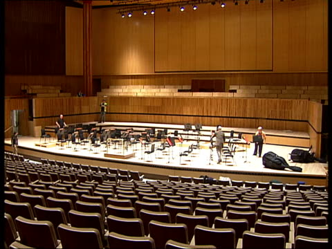 royal festival hall after refurbishment england london south bank royal festival hall int stage and auditorium of newly refurbished royal festival... - royal festival hall stock videos & royalty-free footage
