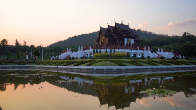 royal flora park of chiang mai - moat stock videos & royalty-free footage