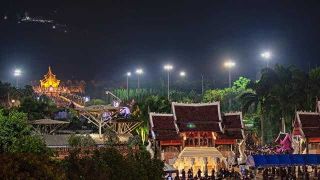 royal flora ratchaphruek chiang mai thailand - provinz chiang mai stock-videos und b-roll-filmmaterial