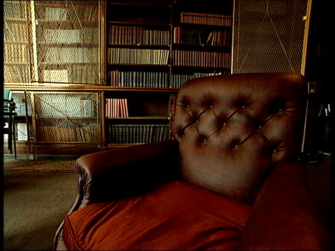 CMS Bust GV Room GV Room with kayak on wall CMS Portrait of native Indian MS Leather armchair in library Pen Hadow interview SOT it was our...