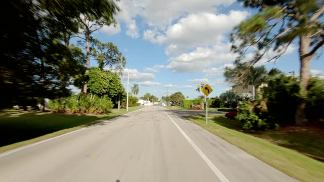royal harbor xix synced series front view driving process plate - naples florida stock videos & royalty-free footage