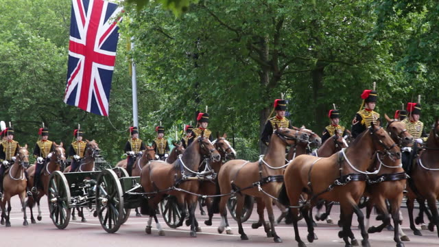 vidéos et rushes de royal horse guards artillery - monarchie anglaise