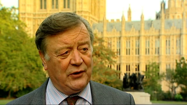 royal mail postal workers to hold more days of strikes; london: westminster: kenneth clarke mp interview sot - privatise, they do have to modernise - ロイヤルメール点の映像素材/bロール