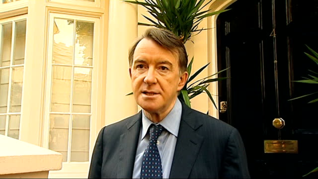 royal mail postal workers to hold more days of strikes; peter mandelson speaking to press sot **flash photography** - i'm being asked to both... - ロイヤルメール点の映像素材/bロール
