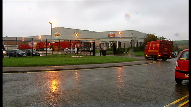 Royal Mail postal workers to hold more days of strikes SCOTLAND Aberdeen Royal Mail trucks/lorries/vans along around Royal Mail depot Royal Mail sign...