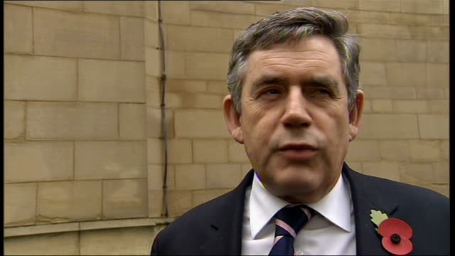 Royal Mail postal workers to hold more days of strikes West Yorkshire Wakefield PHOTOGRAPHY *** Gordon Brown MP interview SOT Got to look at future...