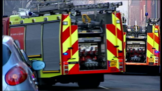 royal marsden hospital badly damaged by fire flames and clouds of smoke from burning hospital roof fire engines at scene evacuated hospital staff and... - burning mattress stock videos & royalty-free footage