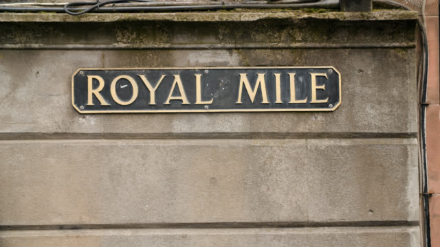 ms royal mile street sign in edinburgh, scotland - capital letter stock videos & royalty-free footage
