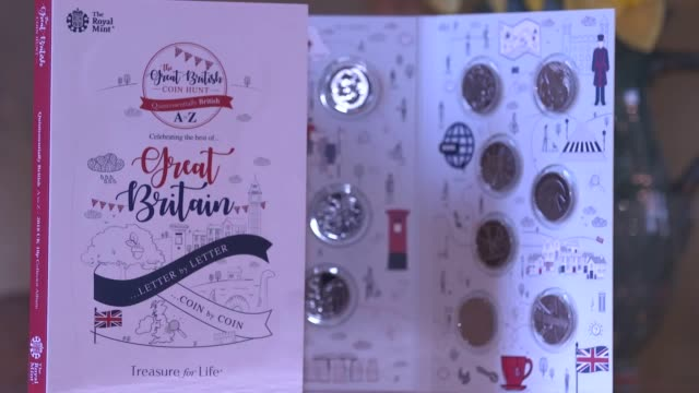 royal mint has unveiled 26 new 10p coin designs that depict 26 'quintessentially british things' from az the coins include b for james bond f for... - royal mint stock videos & royalty-free footage