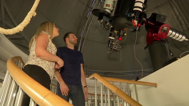 Royal Observatory at Greenwich working for first time since smog shut down telescopes UK London Greenwich Royal Observatory Astronomers chatting...