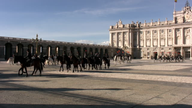 palacio real in madrid - palace stock videos & royalty-free footage