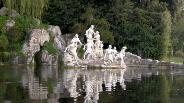 Royal Palace of Caserta, The Fountain of Diana and Actaeon.