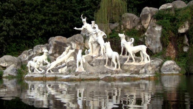 royal palace of caserta, the fountain of diana and actaeon. - greek mythology stock videos and b-roll footage