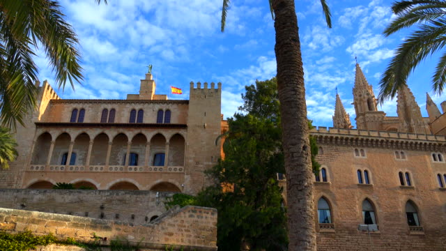 royal palace of la almudaina, palma de mallorca - palma stock videos & royalty-free footage