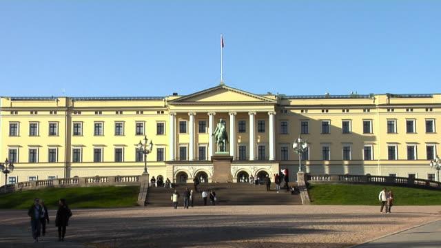 royal palace - oslo - male likeness stock videos & royalty-free footage