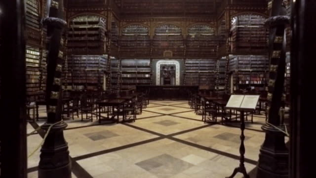 royal portuguese cabinet of reading - library stock videos & royalty-free footage