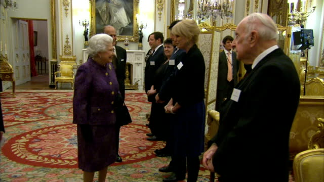 royal reception for contemporary british poetry england london buckingham palace photography *** queen elizabeth ii and prince philip duke of... - poet stock videos & royalty-free footage
