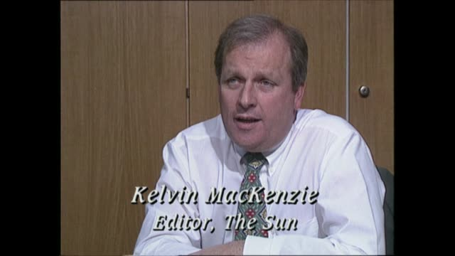 'annus horribilis' - 'my horrible year':; england: london: wapping: 'the sun' offices: int kelvin mackenzie in office and intvw - sun stock videos & royalty-free footage