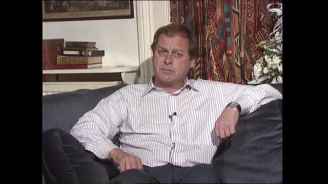 'diana: end of a fairytale?'; england: int andrew morton set up shots with reporter / interview sof anthony holden interview sof - royalty stock videos & royalty-free footage