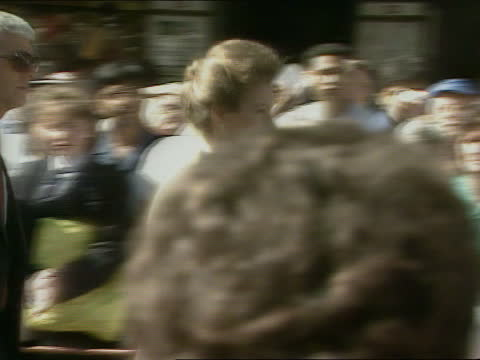 princess royal in tasmania and new zealand; new zealand: otago: dunedin: ext wide shot of dunedin cityscape crowd of people in city centre various of... - トレバー マクドナルド点の映像素材/bロール