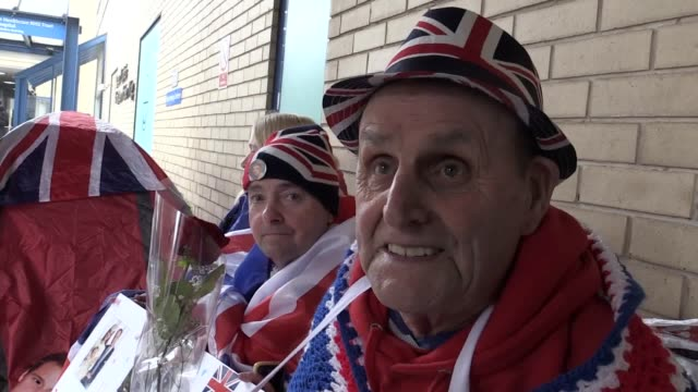 Royal superfans gather outside St Mary's hospital in London in anticipation of the arrival of the royal baby