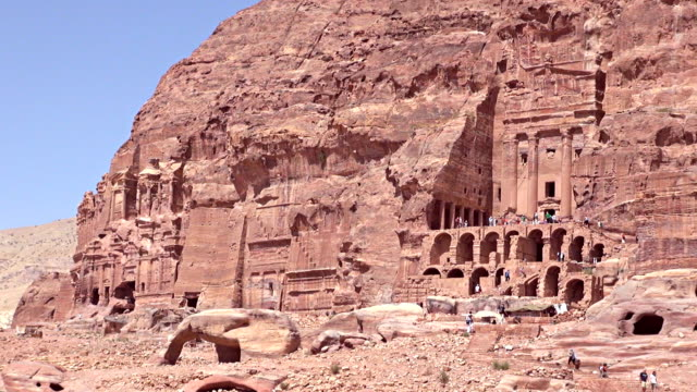 royal tombs - petra, jordan - jordan middle east stock videos and b-roll footage