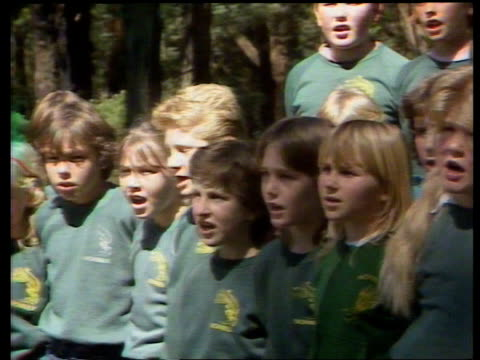 Royal tour of Australia special INJ3274/ INJ3246 ITN Melbourne GV Crowds SEQ Brass band playing MS 2 kids in settler's dress SEQ Diana Charles...