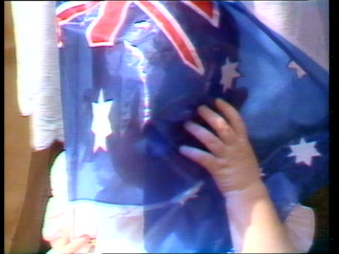 vídeos de stock e filmes b-roll de week 3 australia opening title garden party prince and princess of wales waving sequence prince charles kissed charles falls at polo adelaide ms... - 1983