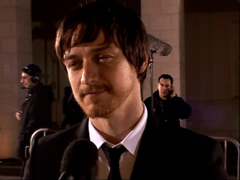 red carpet arrivals James McAvoy interview SOT Would like to do Wanted 2 / Won't be seeing Angelina Jolie while she's in town they're not friends /...