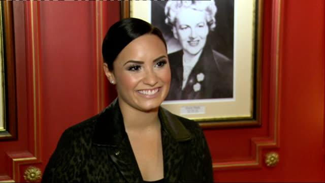 artist interviews Demi Lovato interview SOT