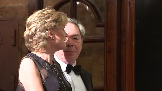 royal variety performance exterior night shots andrew lloyd webber baron webber and wife madeleine gurdon at entrance to london palladium ahead of... - madeleine gurdon stock videos & royalty-free footage