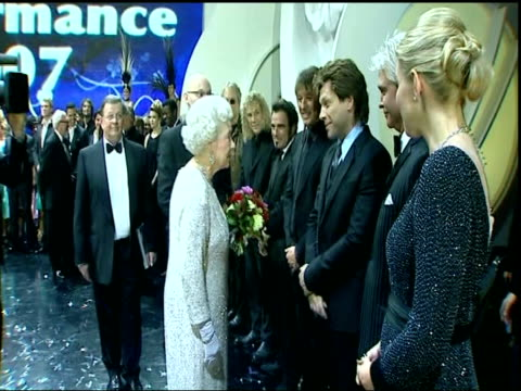 queen and prince philip arrival queen and prince philip along on stage meeting performers including seal philip schofield and kate thornton queen... - seal singer stock videos and b-roll footage