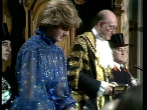 royal visit to wales; wales: cardiff: royal car arrives to bv zoom prince charles and princess of wales up stairs l-r to bv princess of wales - blue... - royal blue stock videos & royalty-free footage