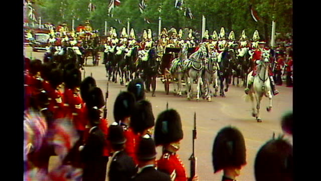 royal wedding coldstream guards band rehearse and scots guards drill tx 2971981 london prince charles and diana princess of wales along in state... - rehearsal stock videos and b-roll footage