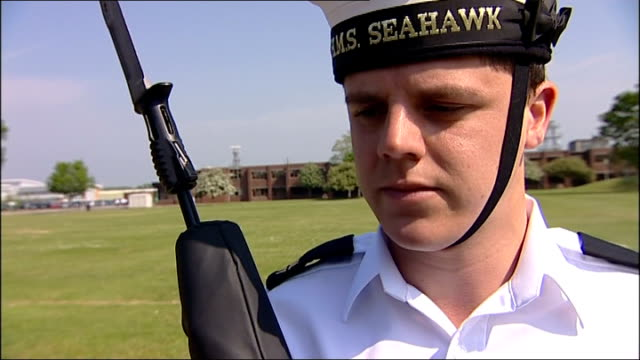 military preparations matthew bell interview sot on training been here for past 2 weeks getting ready / feel very proud / precision is very important... - galeere stock-videos und b-roll-filmmaterial